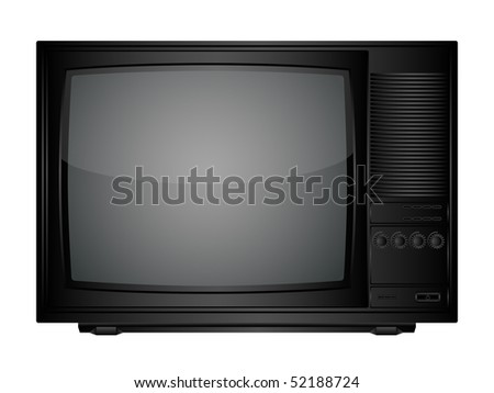 Isolated image of a TV set. Vector illustration.
