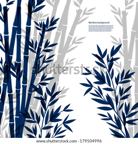 Isolated Ink Bamboo illustration on a white background - stock vector