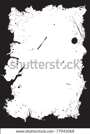 Isolated ink frame - stock vector