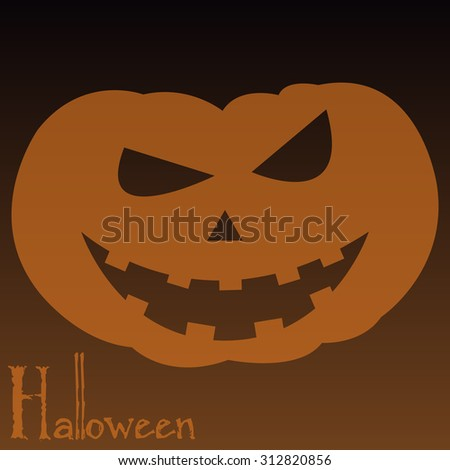 Isolated jack o' lantern on a colored background. Vector illustration