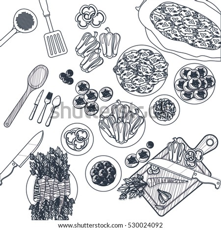 isolated kitchen supply design. Interior Design Ideas. Home Design Ideas