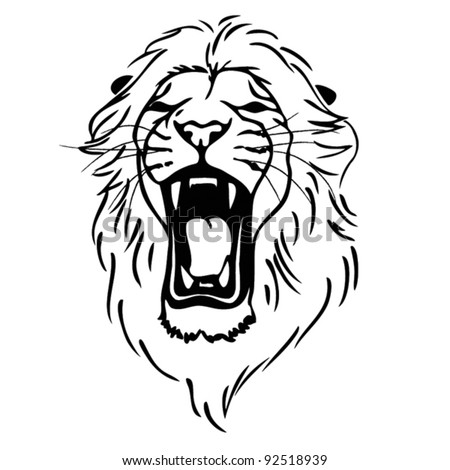 Isolated lion head as a symbol, sign, emblem - vector - stock vector
