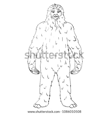 Isolated Object On White Background Point Vector Illustration Nepal Yeti Abominable Snowman