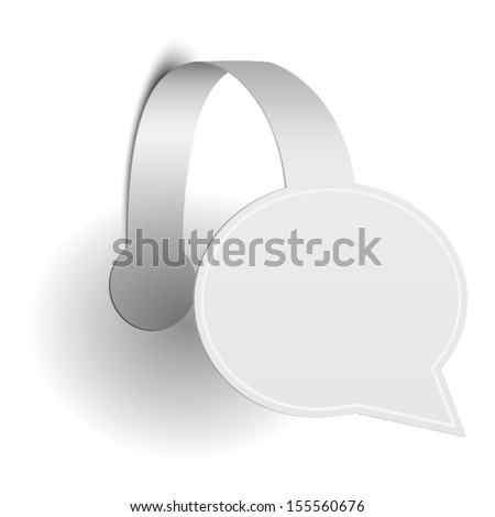 Isolated Paper Promotion Wobbler. Vector Illustration - stock vector