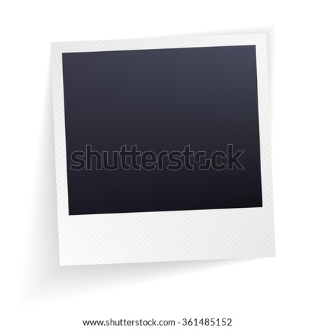 Isolated Photo Frames on White Background. Vector  illustration.