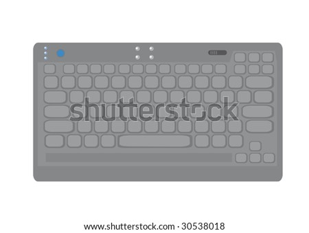 Isolated picture of compact keyboard. Vector illustration.