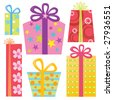 Isolated Presents/Gifts Vector Set - stock vector