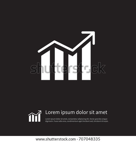 Isolated Progress Icon Growth Vector Element Stock Vector 2018
