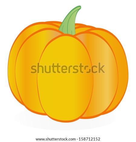 Isolated pumpkin - stock vector