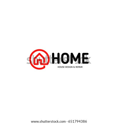 House logo stock images royalty free images vectors for Home design agency scp