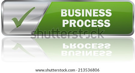 isolated realistic modern green 3D vector eps10 buiness process label sign - stock vector