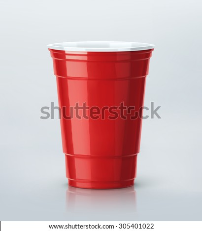 Isolated red party cup, eps 10 - stock vector