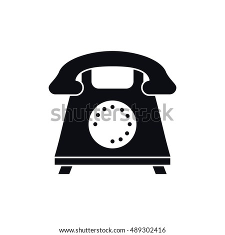 Isolated retro phone design