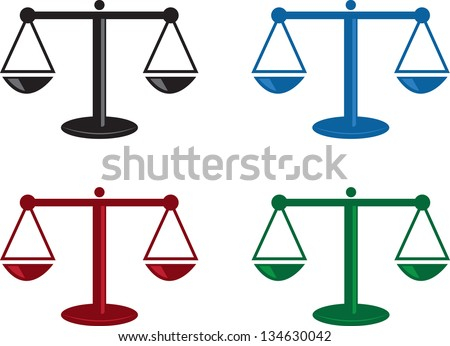 Isolated scales in various colors - stock vector