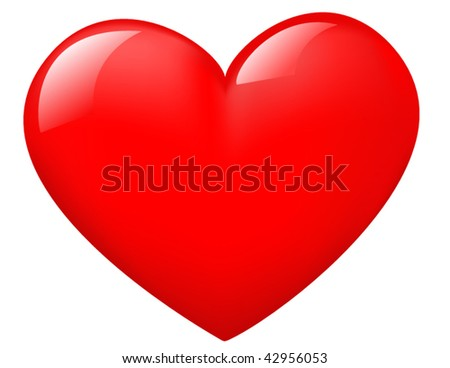 Isolated shiny heart - stock vector
