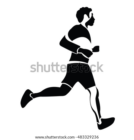 Isolated silhouette of a person doing exercises, Fitness vector illustration