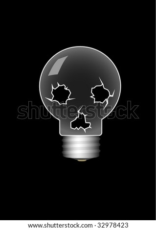 isolated skull-bulb
