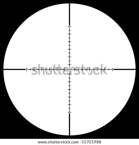 Isolated sniper sight, vector illustration - stock vector