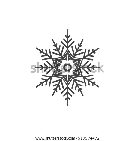 Isolated Snowflake Symbol Snowflake Icon Stock Vector 519594472