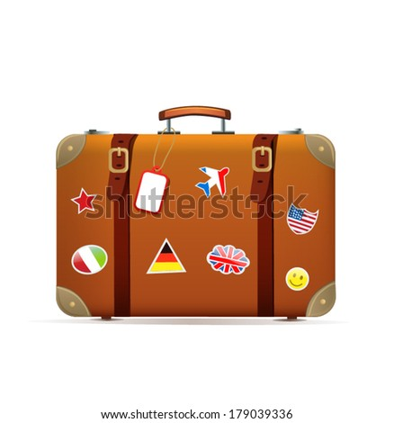 Isolated suitcase - stock vector