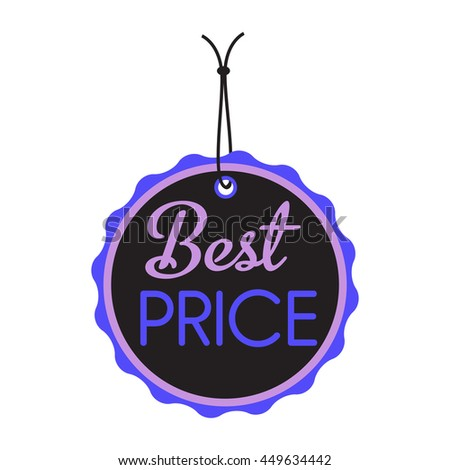 Isolated tag with the text best price - stock vector