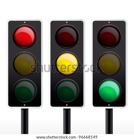 Isolated traffic light vector - stock vector