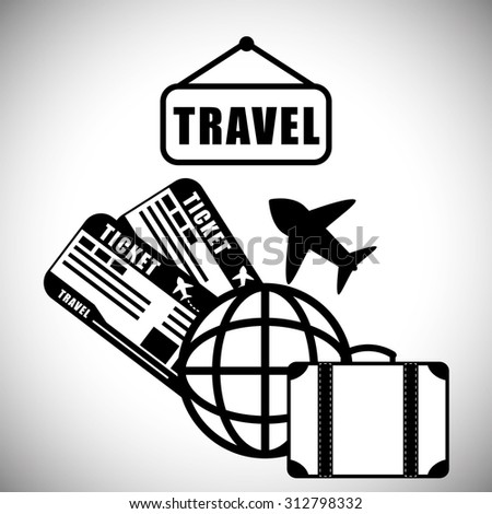 isolated travel design, vector illustration 10 eps graphic