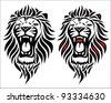 Isolated tribal lion tattoo - vector illustration - stock vector