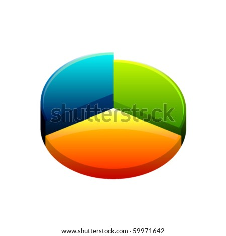 Isolated Vector 3D Diagram - stock vector