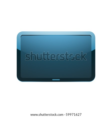 Isolated Vector Display Screen - stock vector