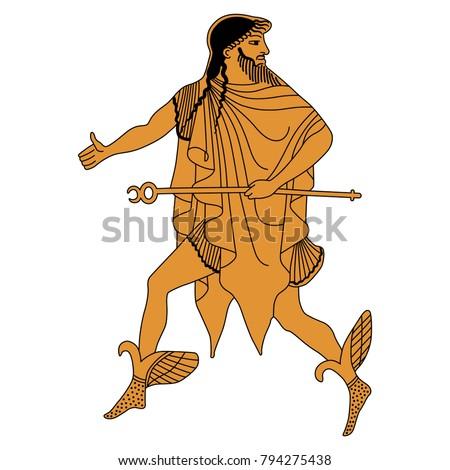 isolated vector illustration running ancient greek stock vector rh shutterstock com