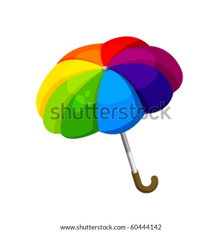 Isolated Vector Umbrella - stock vector