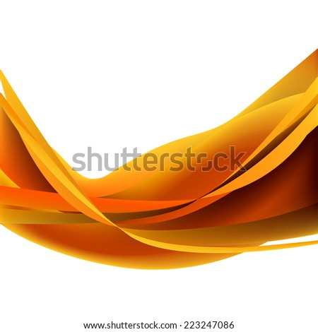 Isolated wallpaper decoration white glowing horizontal yellow vector explosion curve bonfire orange light graphic element glow wavy abstract wave dark modern illustration flame lines frame backdrop  - stock vector