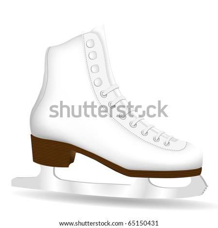 Isolated White Skate on a White Background - stock vector