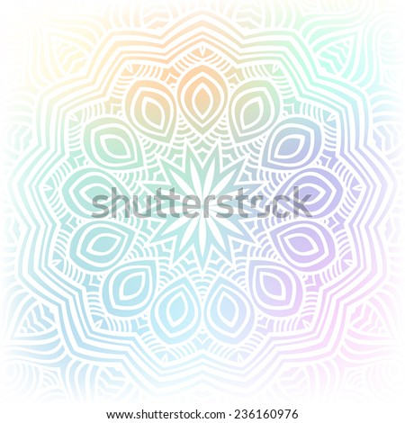 Isolated yoga mandala meditation ornament  - stock vector