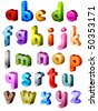 Isometric Alphabet - Vector - stock vector