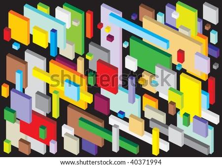 isometric background - stock vector