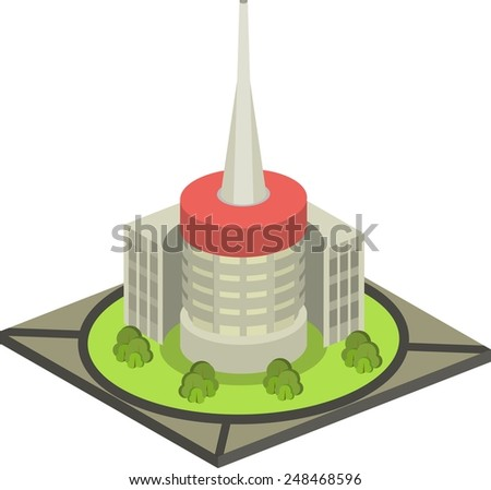 Isometric city Vector illustration of isometric cityscape. custom and edit map - stock vector