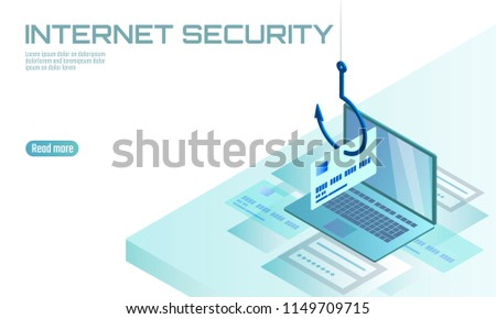 Isometric 3 D Laptop Credit Card Cvv Stock Vector (Royalty Free ...