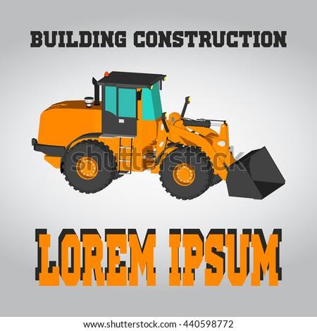 Isometric excavator icon bulldozer illustration business stock isometric excavator icon bulldozer illustration business card of contractor colourmoves
