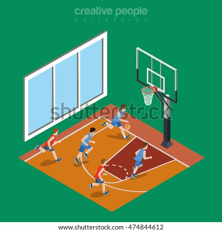 Playground isometric stock images royalty free images for Free inside basketball courts