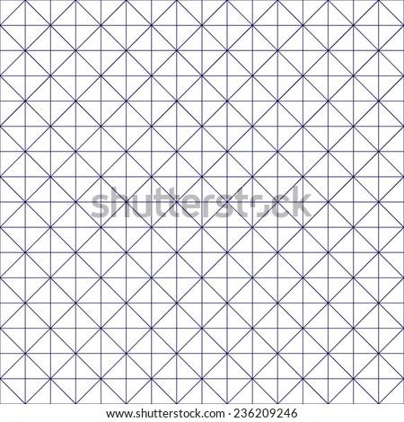 Isometric Geometric Grid - stock vector