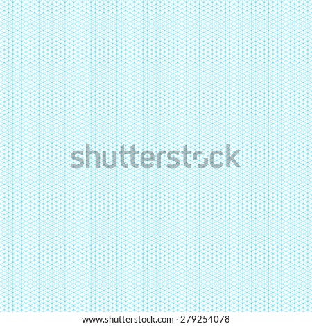 Isometric Graph Paper Layout. Seamless Pattern. Vector Illustration
