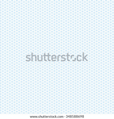 Isometric Grid Paper Vector Template Stock Vector