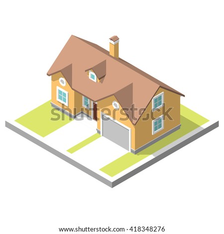 isometric image of a private house