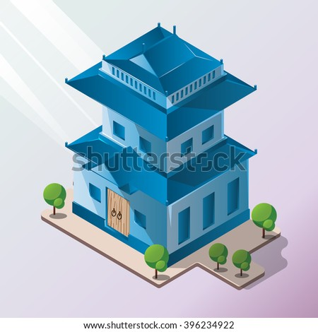 isometric old house