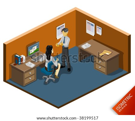 Isometric partnership - stock vector