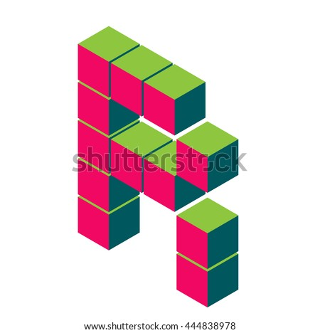 Isometric pixel letter r 3d letter stock vector 444838978 shutterstock isometric pixel letter r 3d letter r isometric red r abc alphabet on thecheapjerseys Images