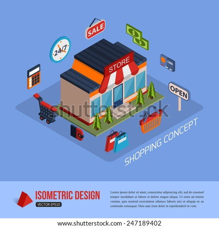flat 3d isometry isometric payment type stock vector 345076802