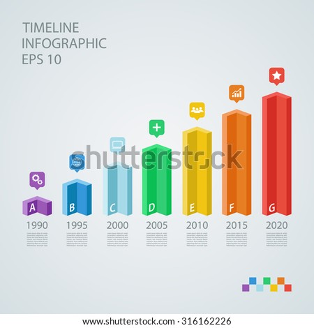 Isometric timeline infographic design template.Vector illustration for workflow layout, diagram, number options, web design. - stock vector